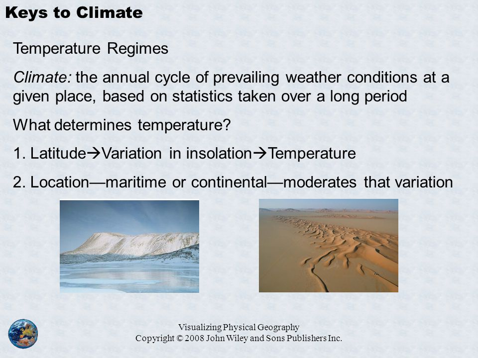What determines temperature
