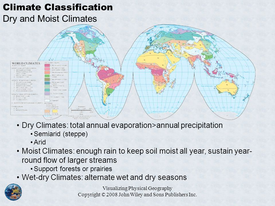 Climate Classification Dry and Moist Climates