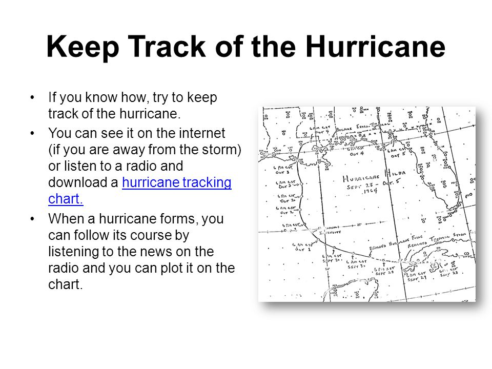 Keep Track of the Hurricane