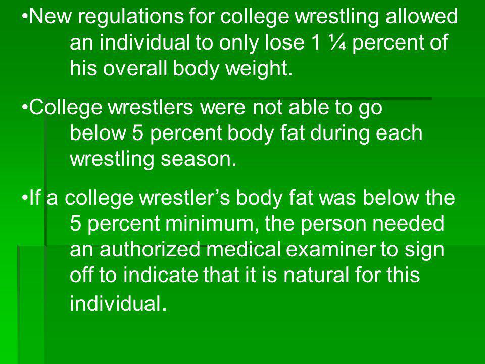 New regulations for college wrestling allowed