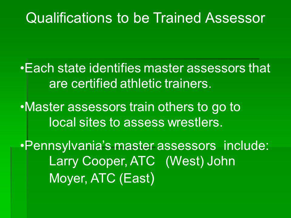 Qualifications to be Trained Assessor