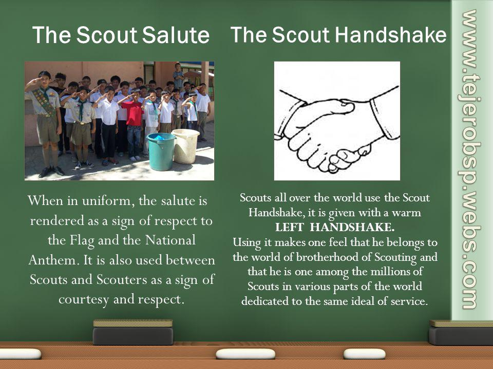 The Scout Salute The Scout Handshake