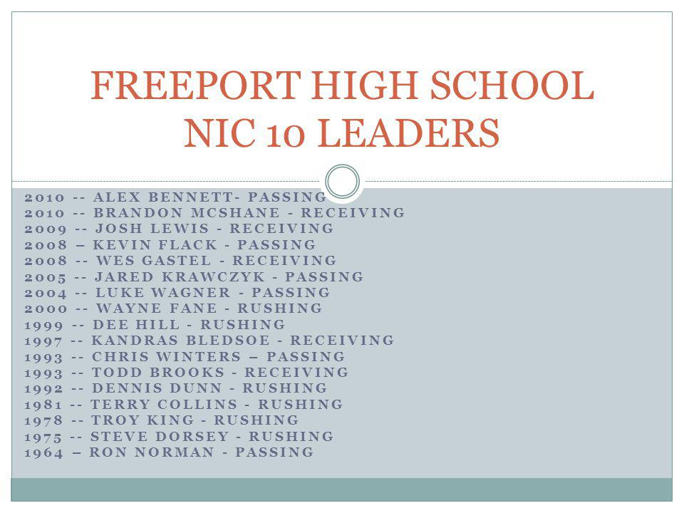FREEPORT HIGH SCHOOL NIC 10 LEADERS