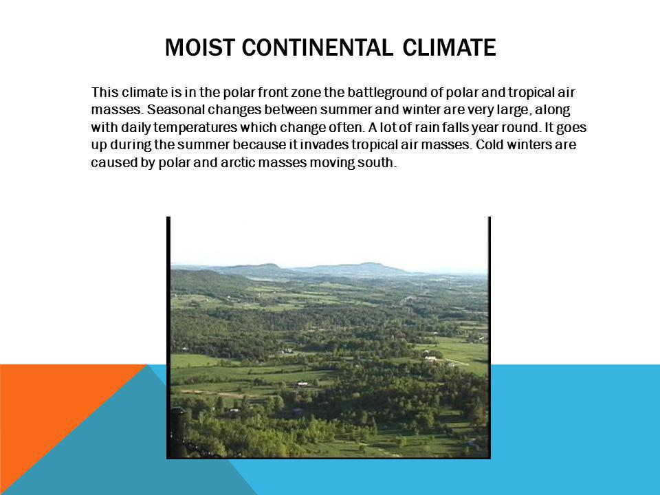 Moist continental climate