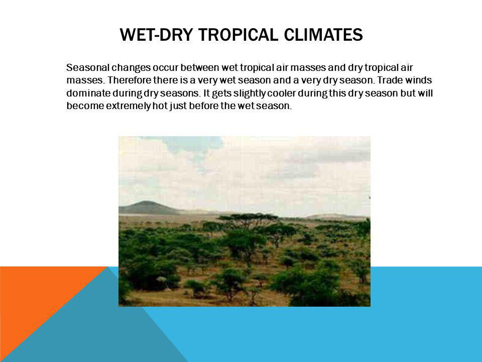 WET-Dry tropical climates