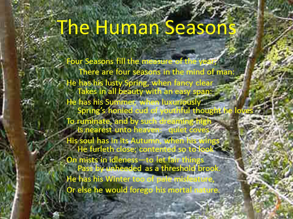 comparison of human life with seasons
