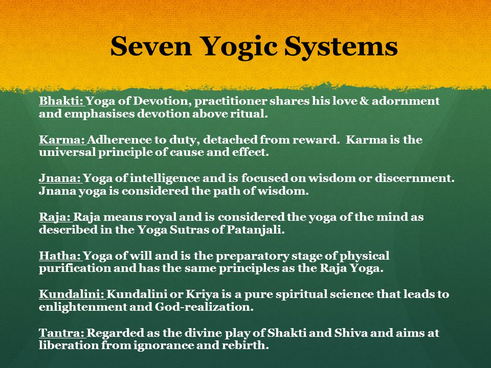 Seven Yogic Systems