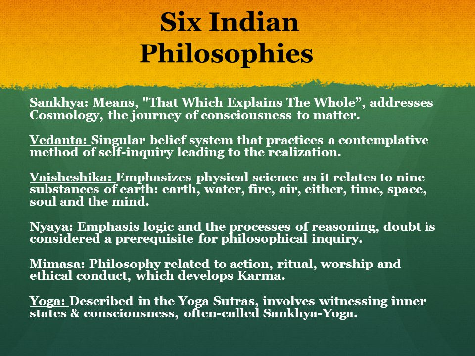 Six Indian Philosophies
