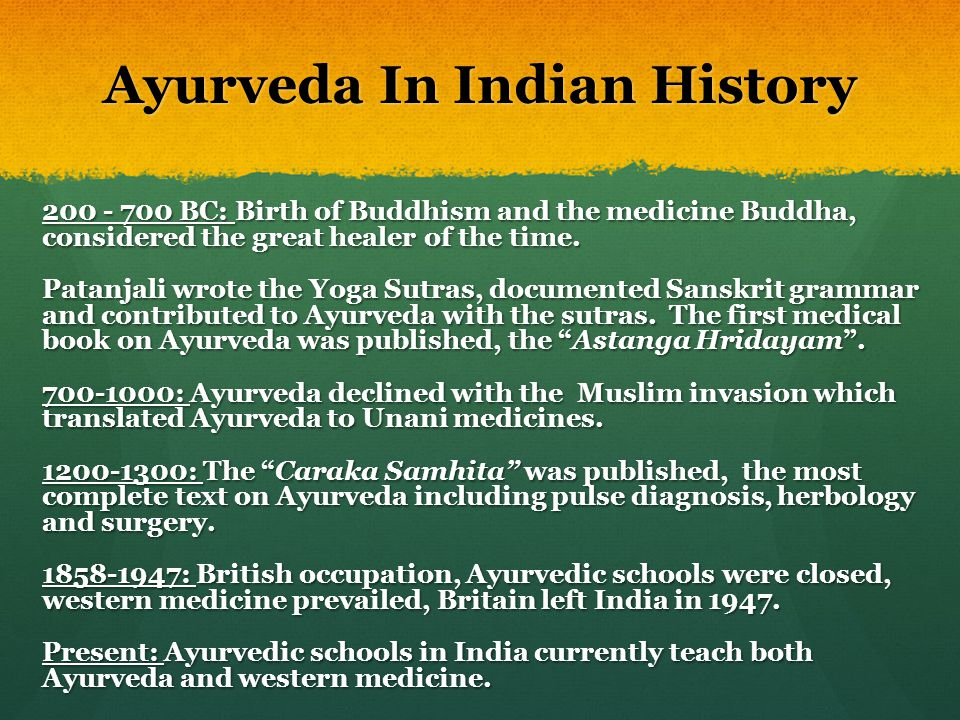 Ayurveda In Indian History