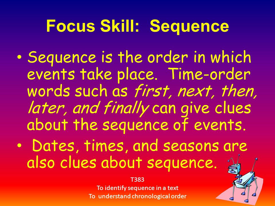 Focus Skill: Sequence