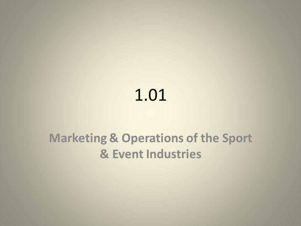 Marketing & Operations of the Sport & Event Industries