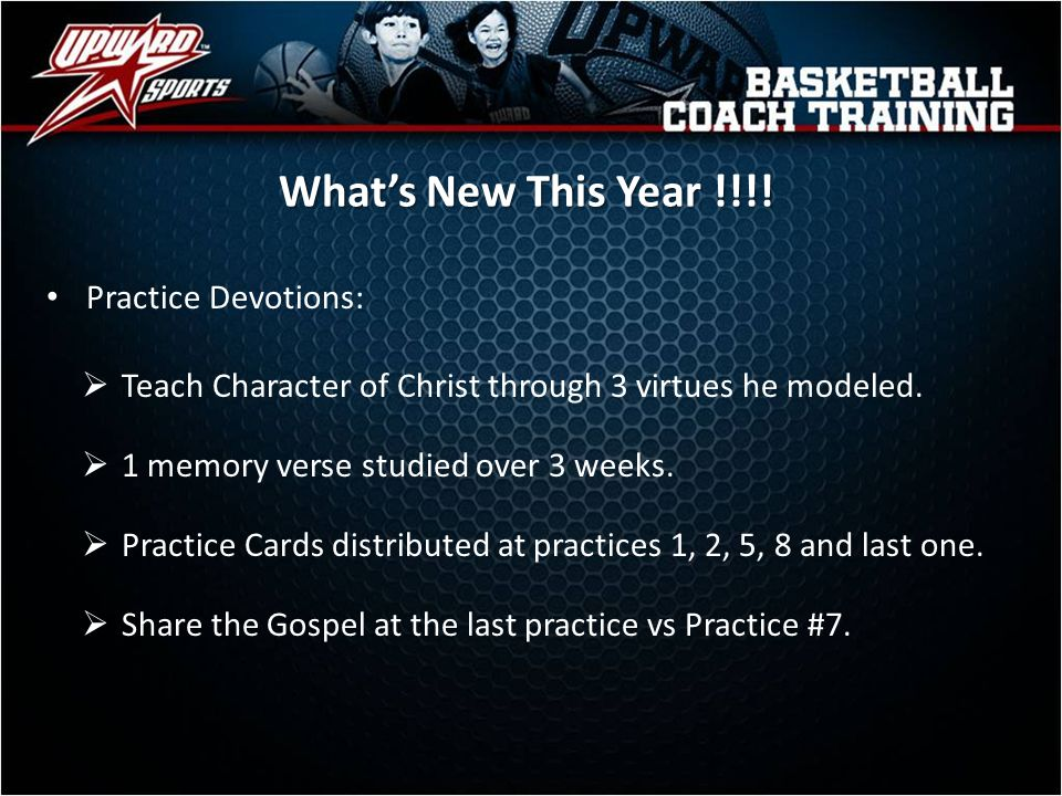 What's New This Year !!!! Practice Devotions: