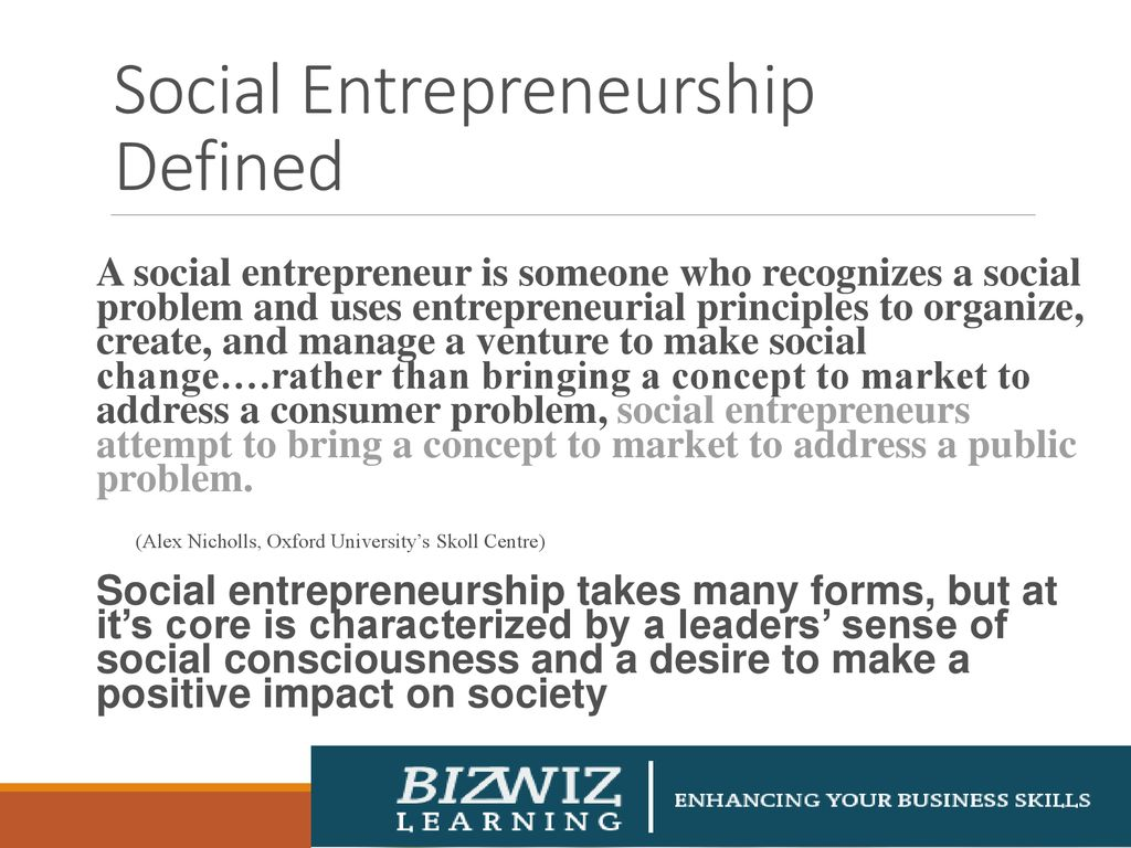 Introduction To Social Entrepreneurship Ppt Download