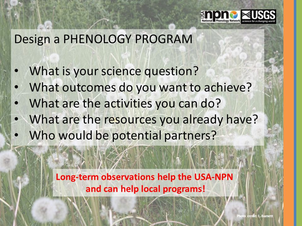Long-term observations help the USA-NPN and can help local programs!