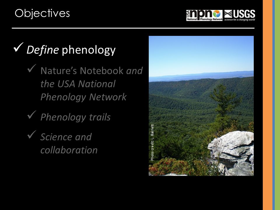 Define phenology Objectives