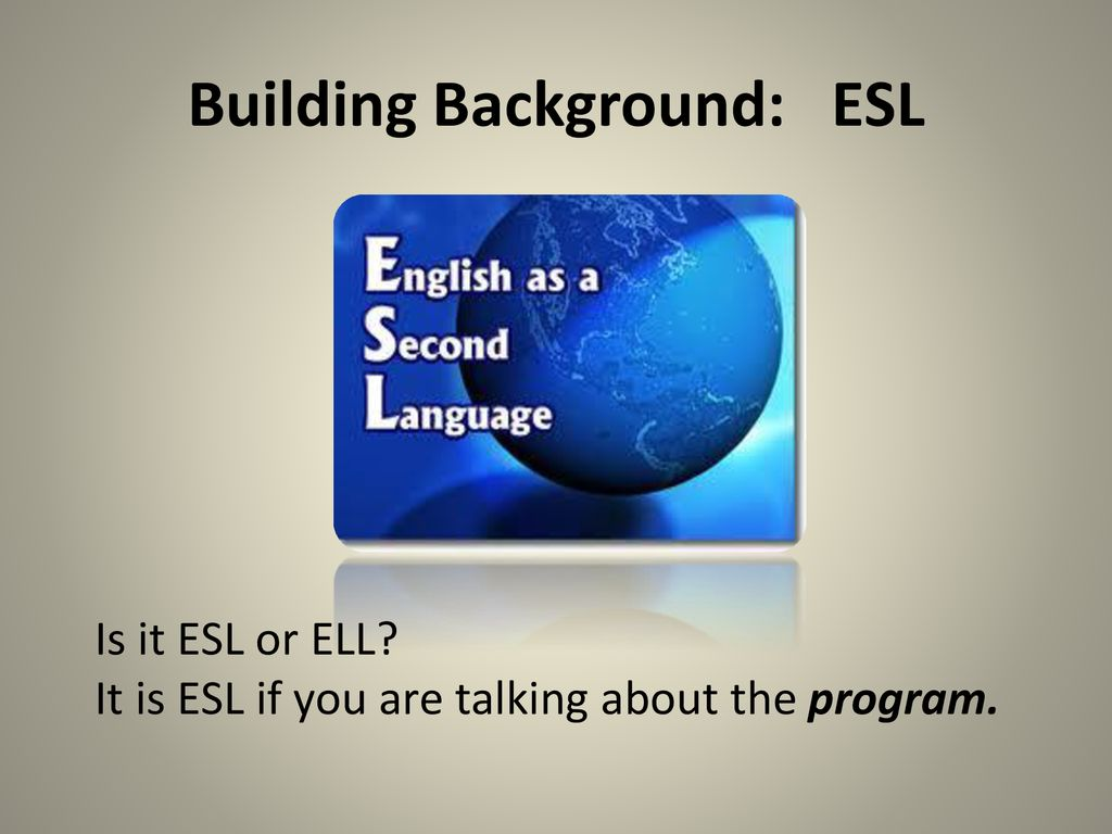 Why talk about ESL?. New Teacher Orientation: Working with Second Language  Learners August 15, ppt download