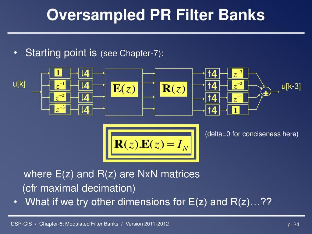 multirate filter banks ppt background