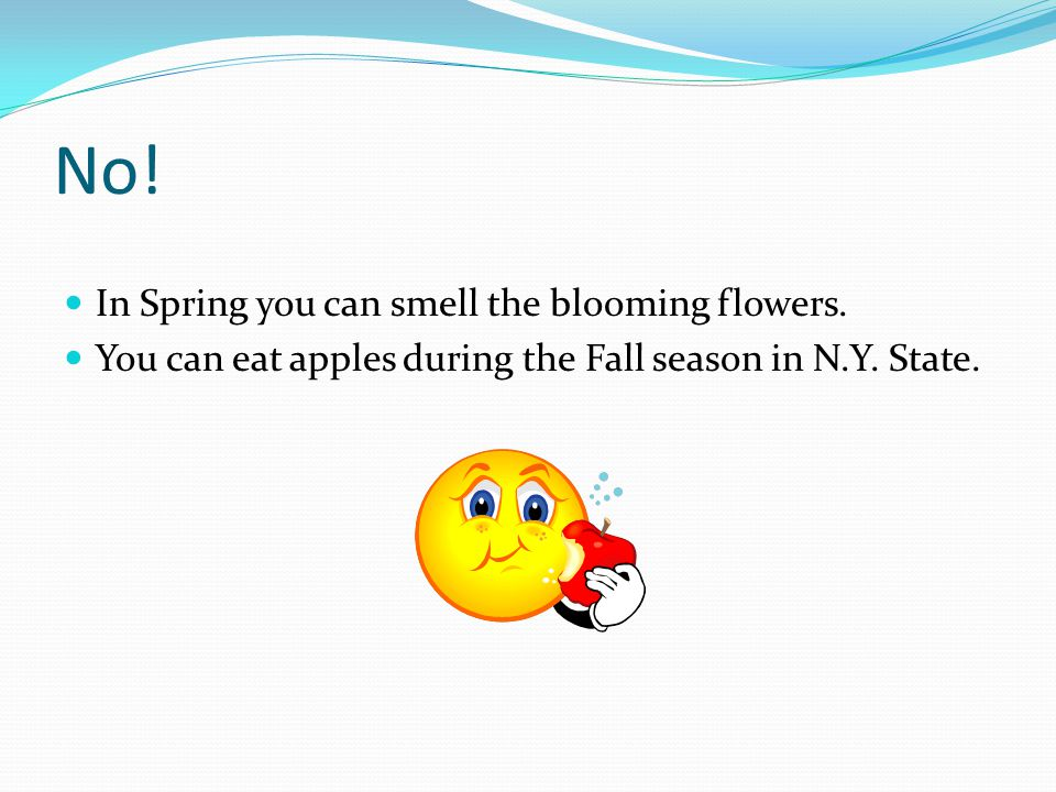 No! In Spring you can smell the blooming flowers.