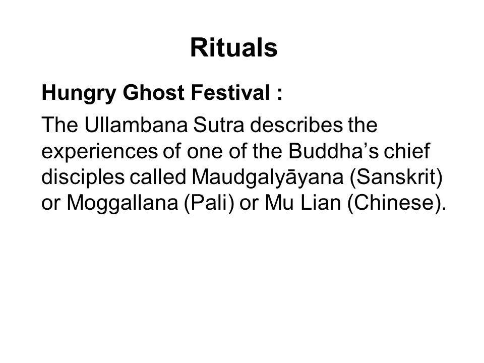 Rituals Hungry Ghost Festival :