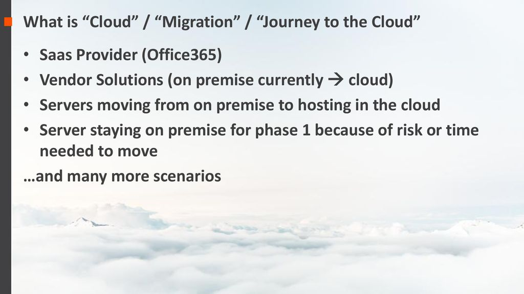 Journey to the Cloud – Guidance and Lessons Learned - ppt