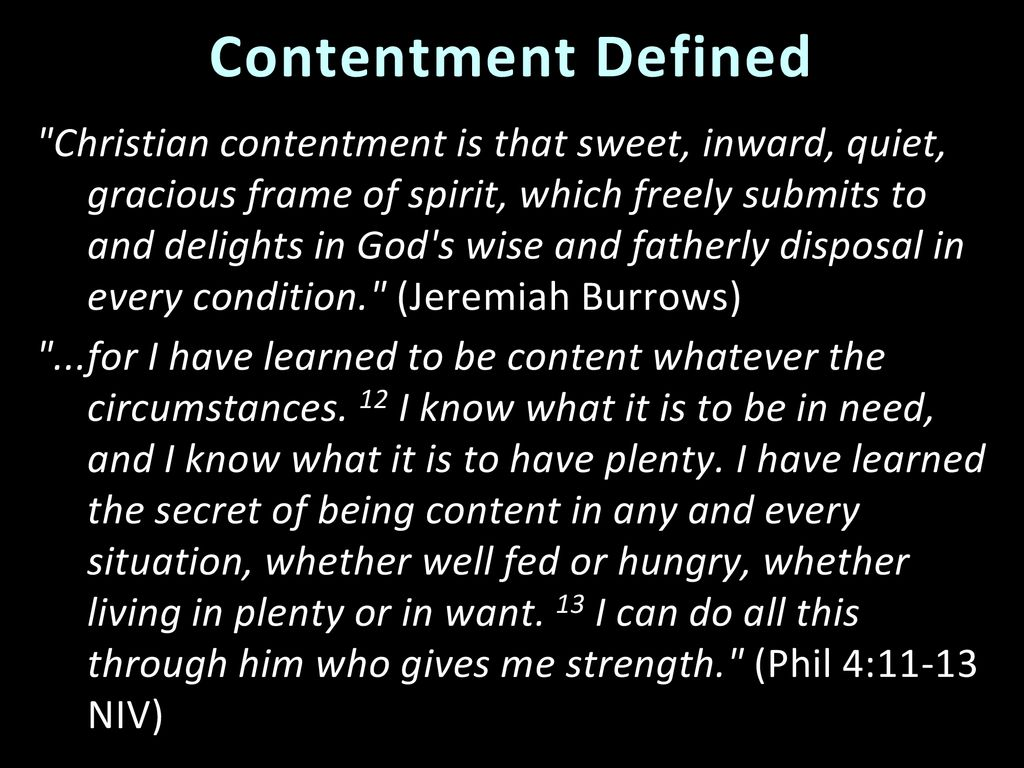 6 Godly Contentment I Timothy Godly Contentment I Timothy Ppt Download