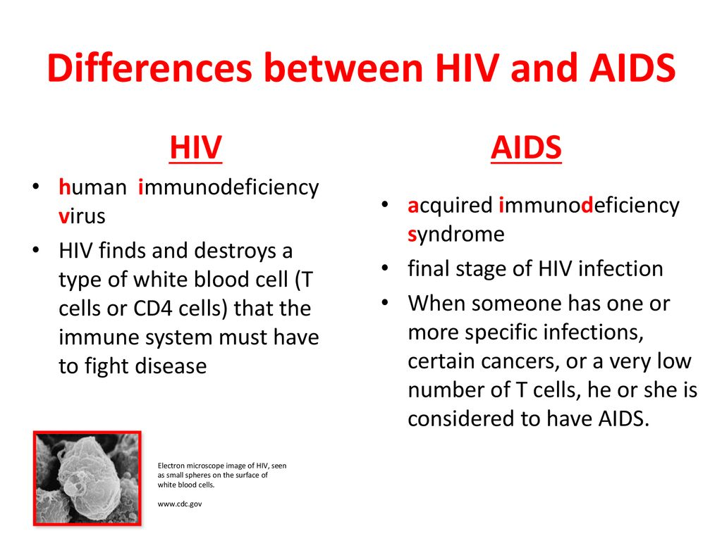 difference between hiv and blood cancer)