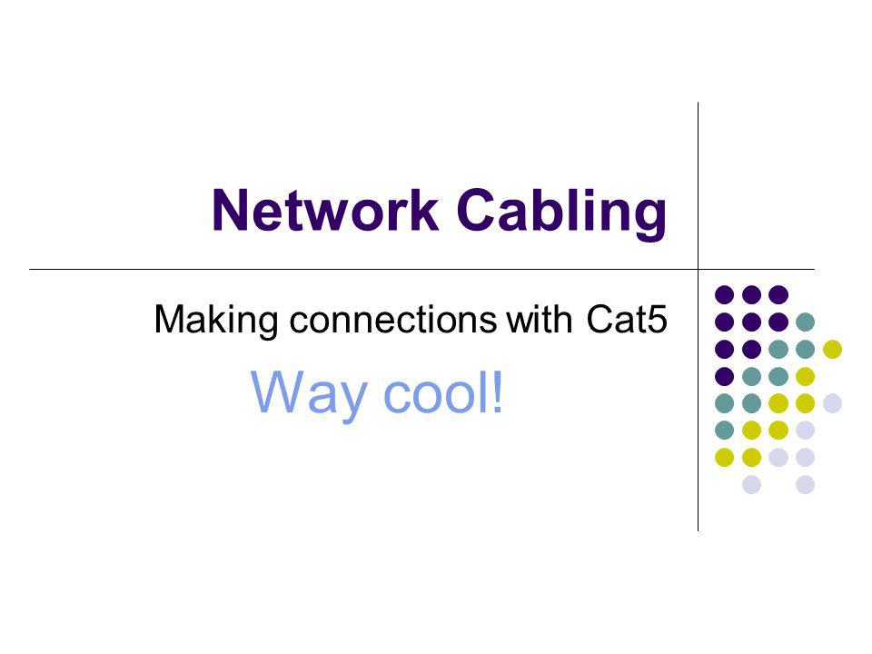 Making connections with Cat5 Way cool!