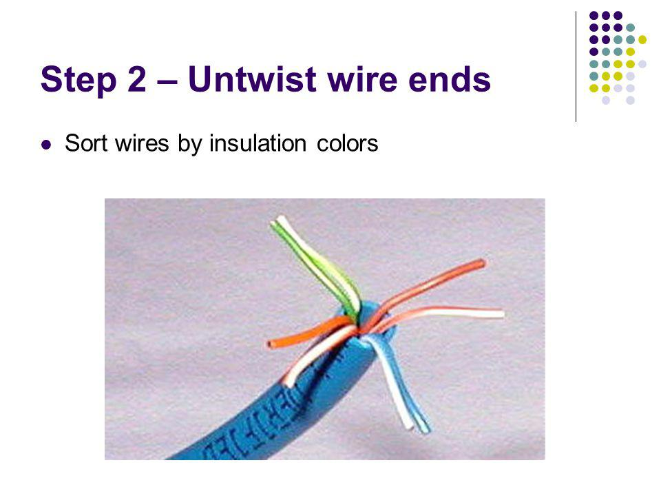 Step 2 – Untwist wire ends