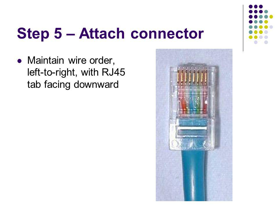 Step 5 – Attach connector