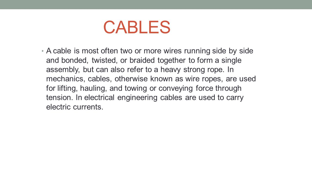 Topic Types Of Wires And Cables Ppt Download Wiring Templates Electrical Powerpoint Template
