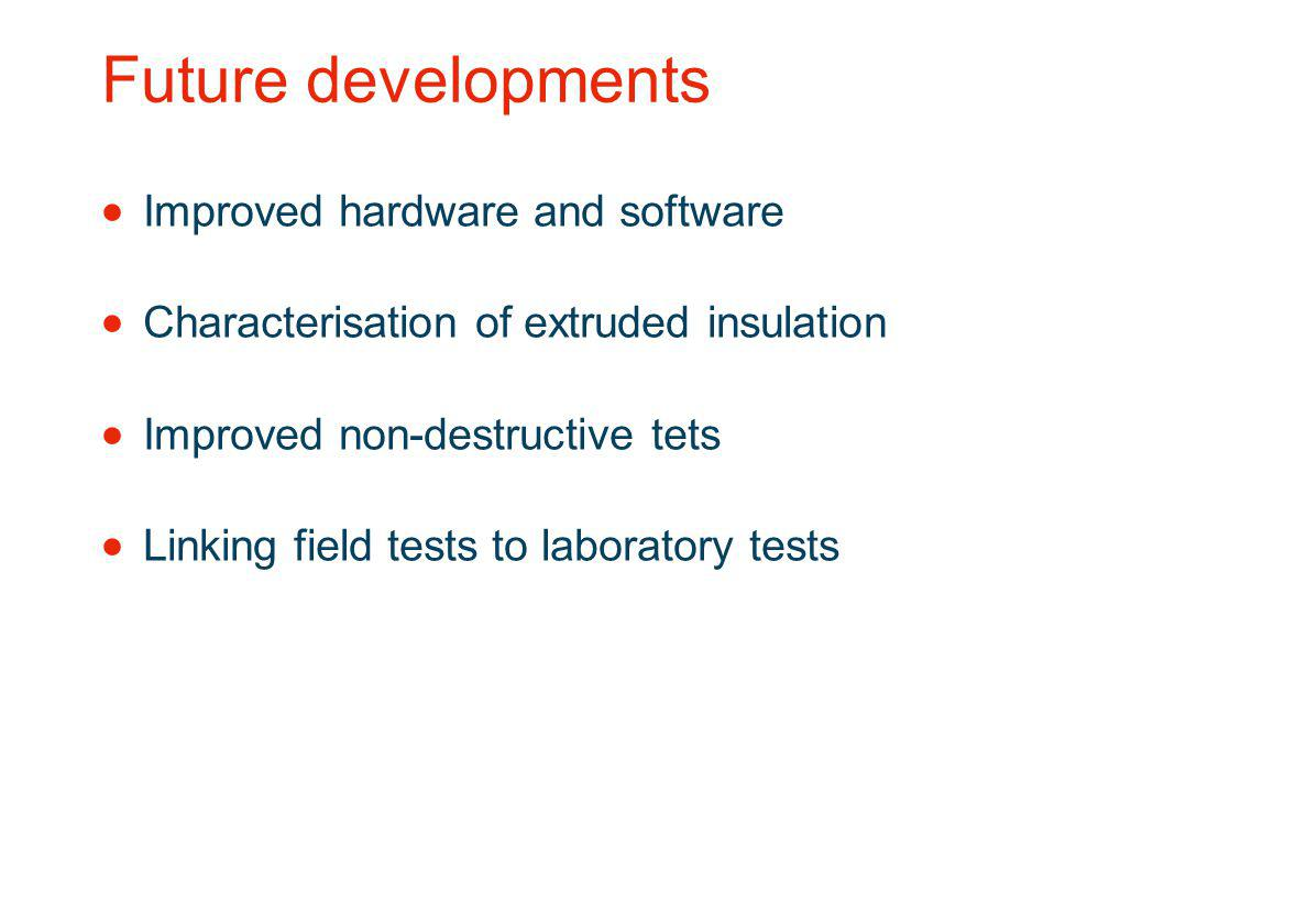 Future developments Improved hardware and software