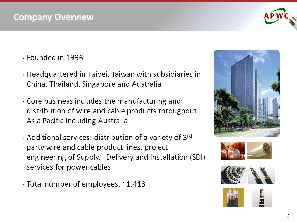 Company Overview Founded in 1996