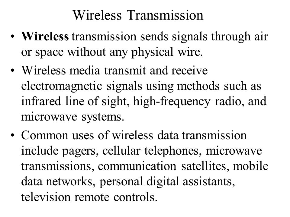 Wireless Transmission