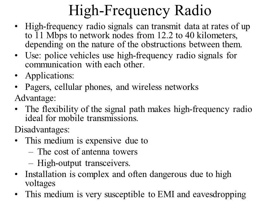 High-Frequency Radio