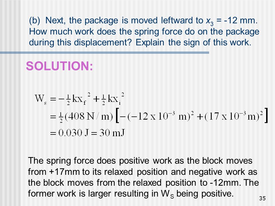 (b) Next, the package is moved leftward to x3 = -12 mm