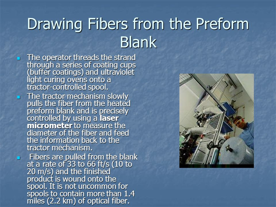 Drawing Fibers from the Preform Blank