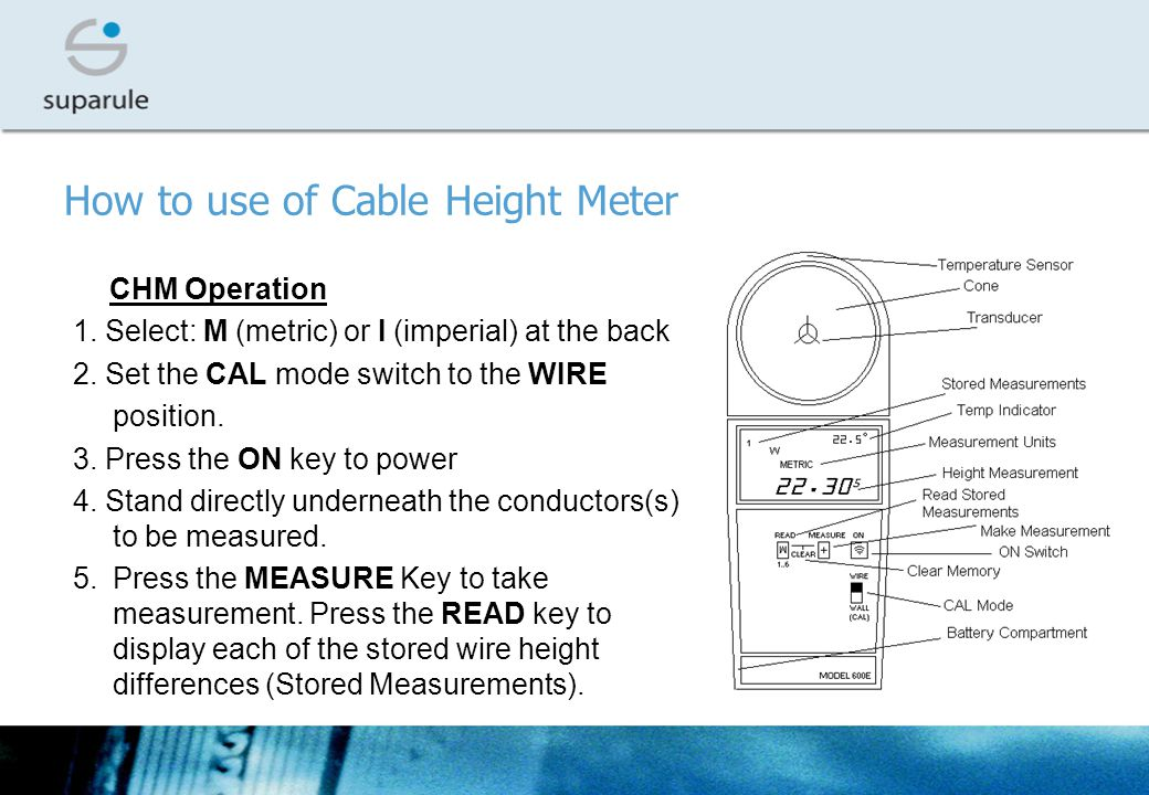 How to use of Cable Height Meter