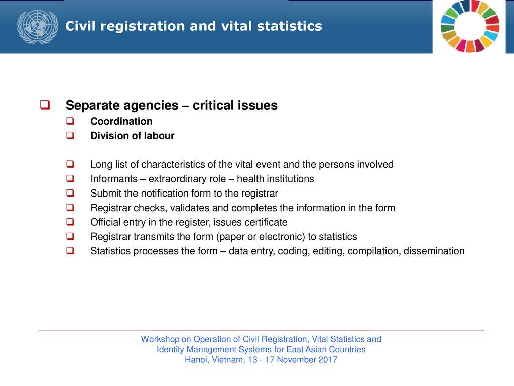 Civil Registration Process: Place, Time, Cost, Late Registration
