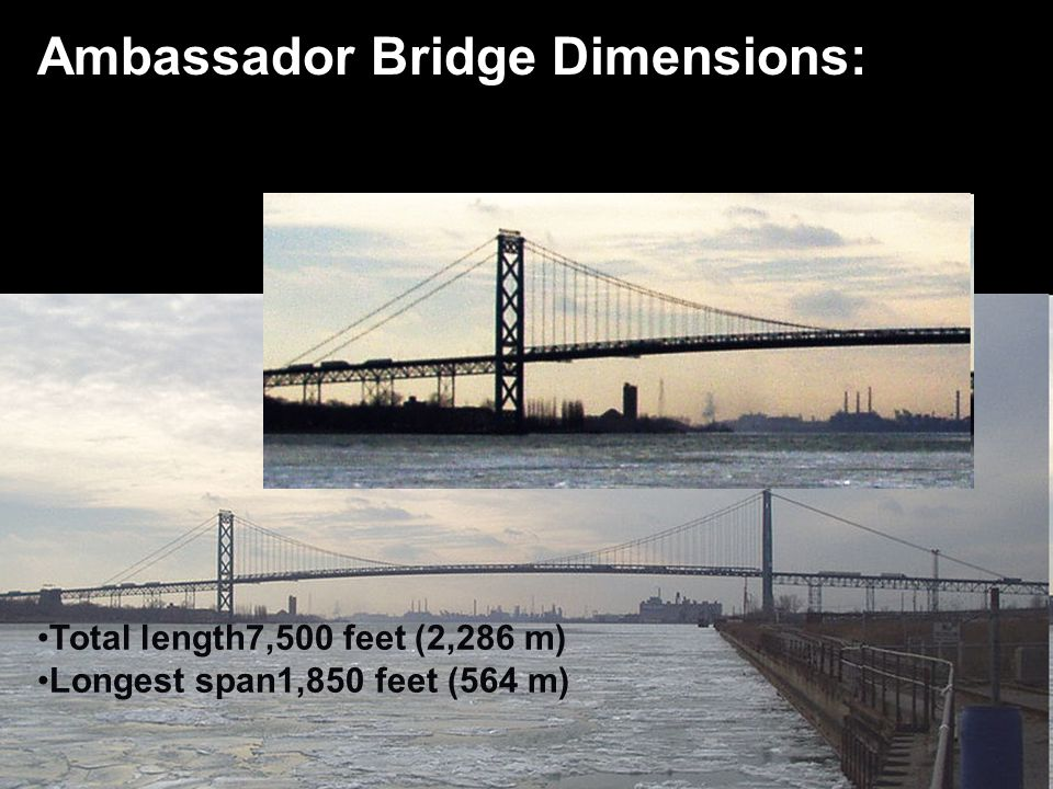 Ambassador Bridge Dimensions: