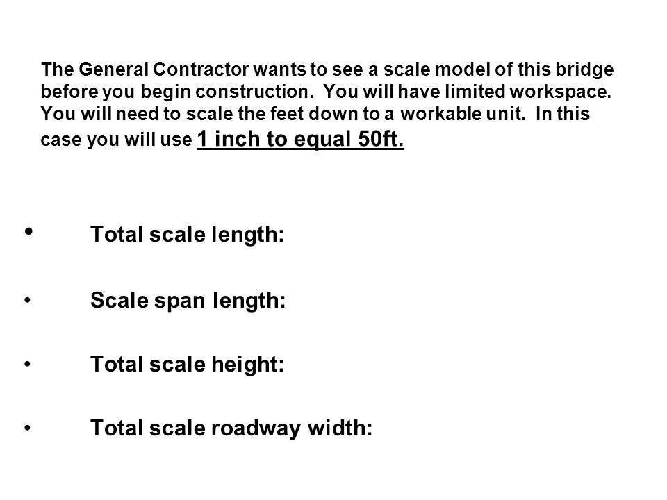 Total scale length: Scale span length: Total scale height: