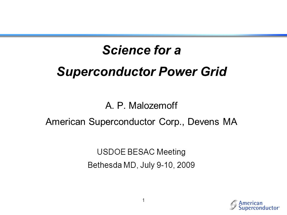 Superconductor Power Grid