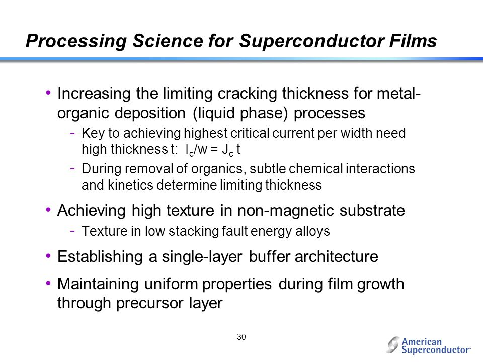 Processing Science for Superconductor Films