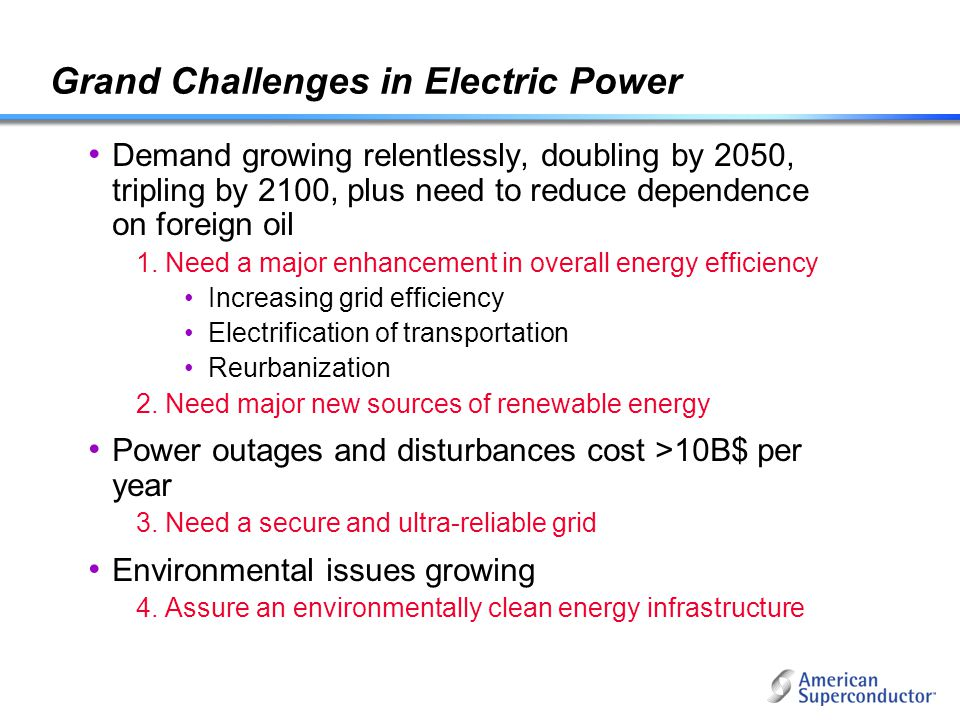 Grand Challenges in Electric Power