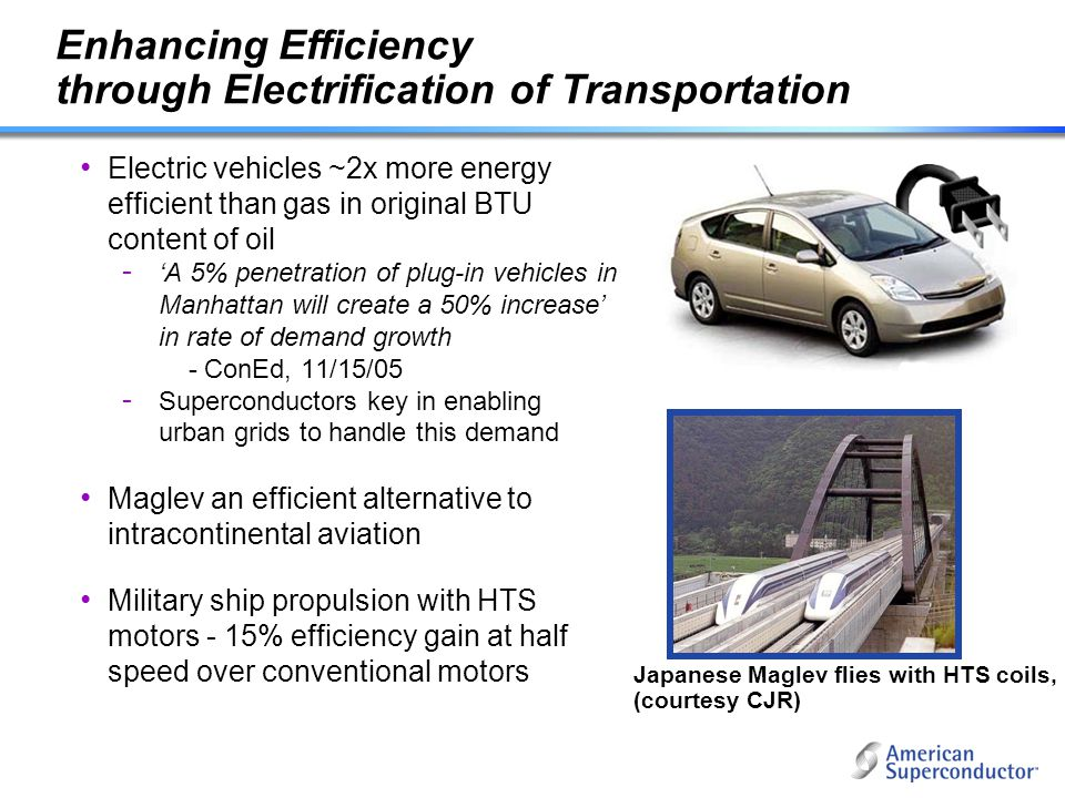 Enhancing Efficiency through Electrification of Transportation