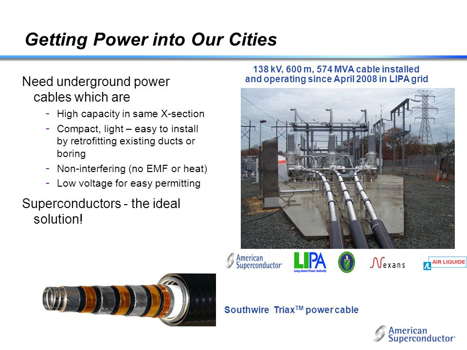 Getting Power into Our Cities