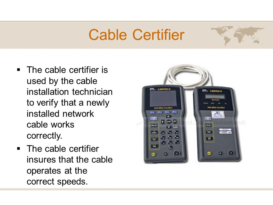 Cable Certifier