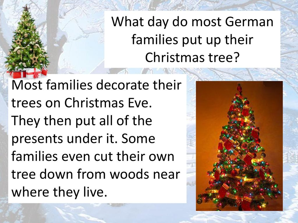 O Christmas Tree In German.1 When Are Presents Opened In Germany Ppt Download