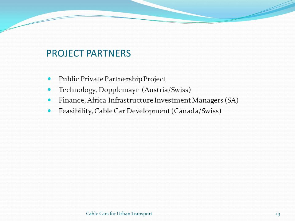 Project Partners Public Private Partnership Project