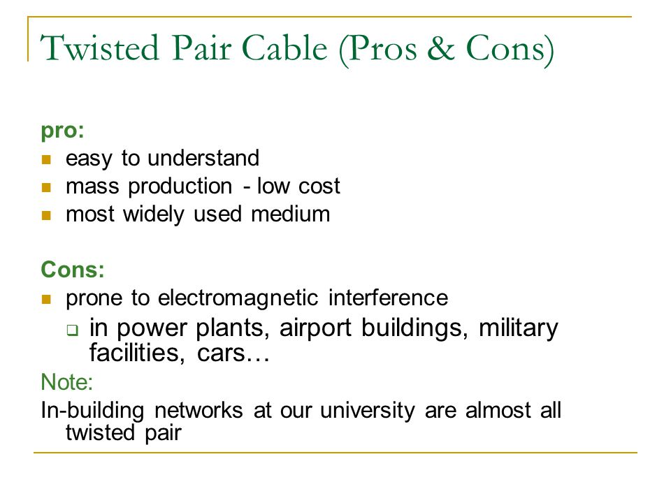 Twisted Pair Cable (Pros & Cons)