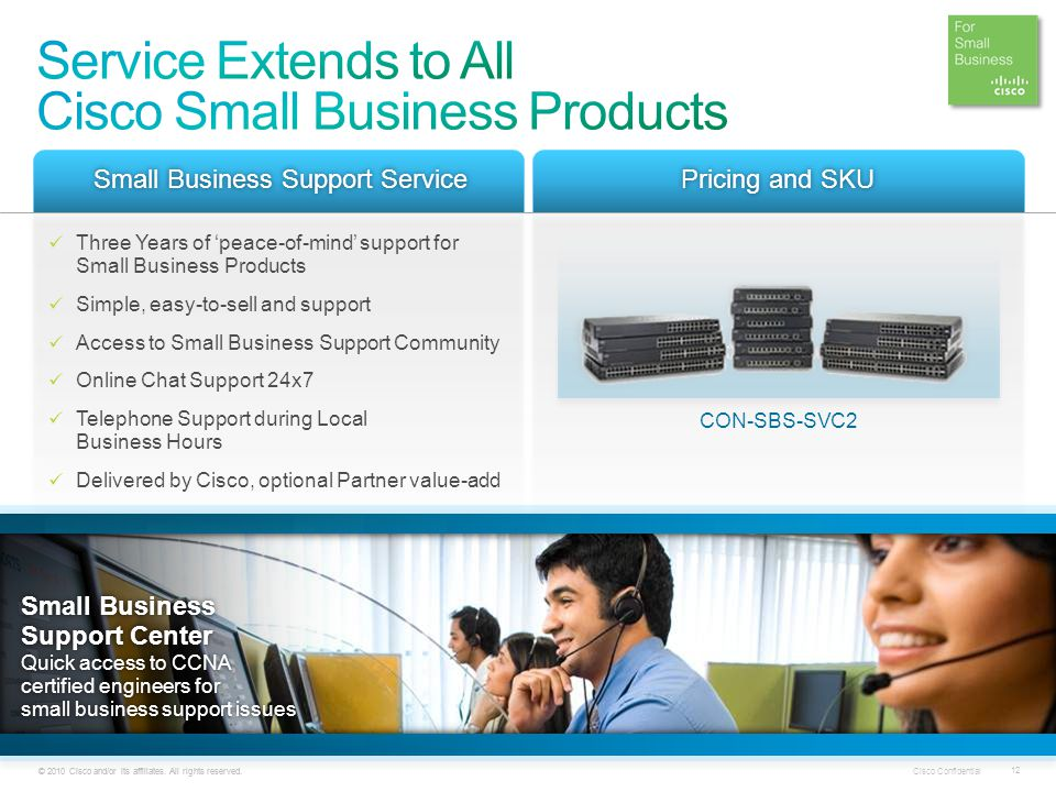Service Extends to All Cisco Small Business Products